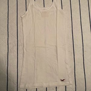 White Hollister tank top